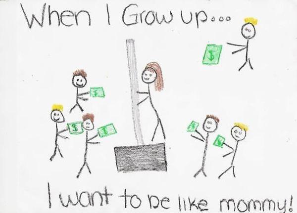 «Когда я вырасту, хочу быть как мама». Мама продает лопаты для уборки снега, если что….