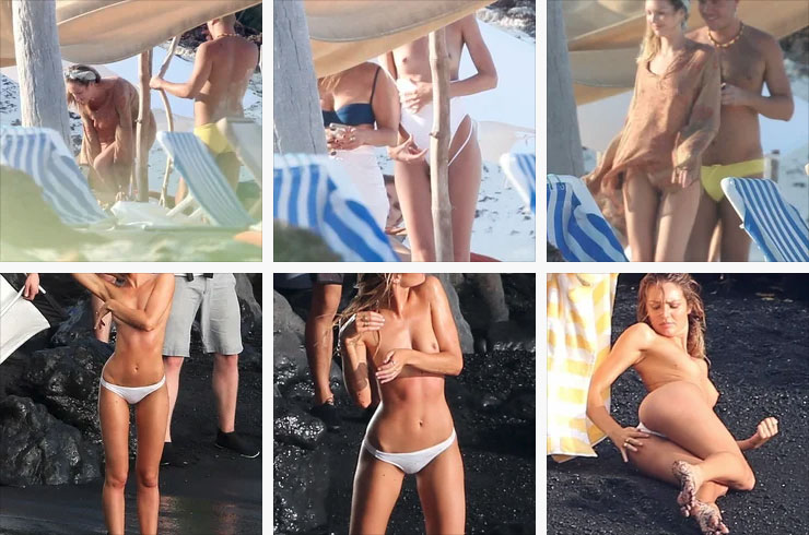 Candice Swanepoel Nude And Topless On A Beach