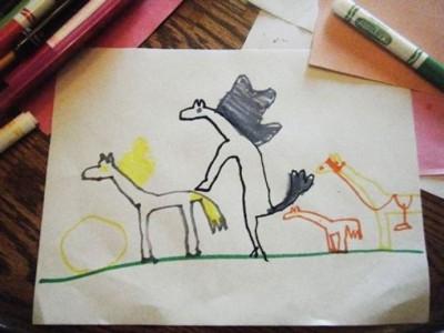 Счастливая семья лошадок